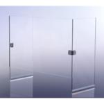 Pantalla Protectora Angular de vidrio templado de 6mm con espacio inferior libre - Aquahome