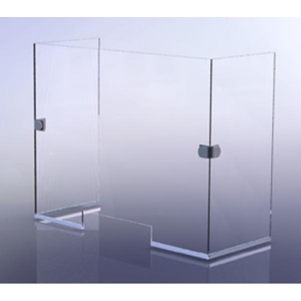 Pantalla Protectora Angular de vidrio templado de 6mm con ventanilla - Aquahome
