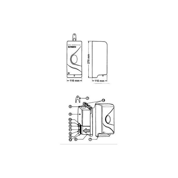 Dosificador Electrónico Automático sin contacto - Prestosan - PrestoEquip