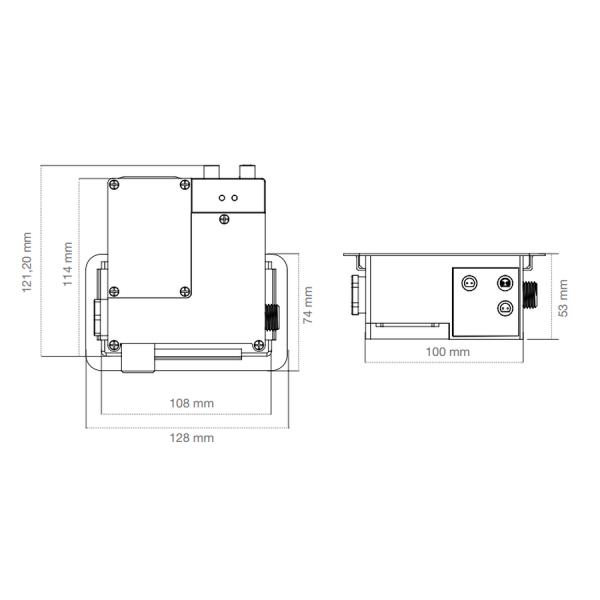 Caja estándar de repuesto - Grifería Clever