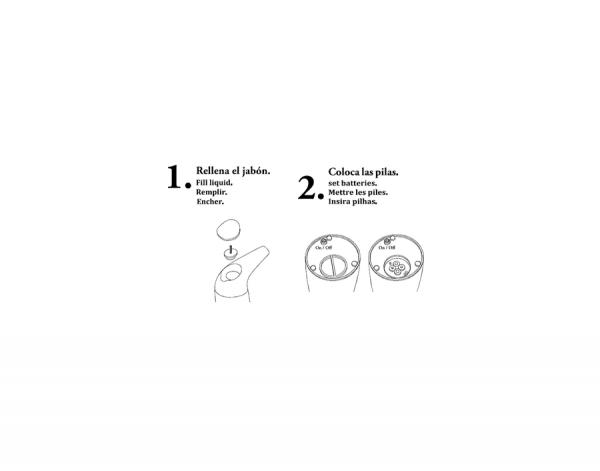 Dispensador de Gel Automático de Sobremesa - 400ml - Manillons Torrent