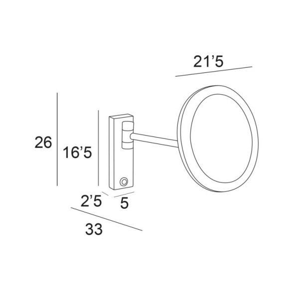Espejo con aumento 5X con LED 4W - Manillons Torrent