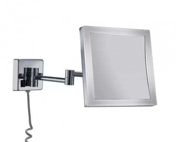 Espejo cuadrado con aumento 5X con LED 4W - Manillons Torrent