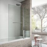 Frente bañera 1 fijo + 1 abatible BREST | LISO - Torvisco Baños