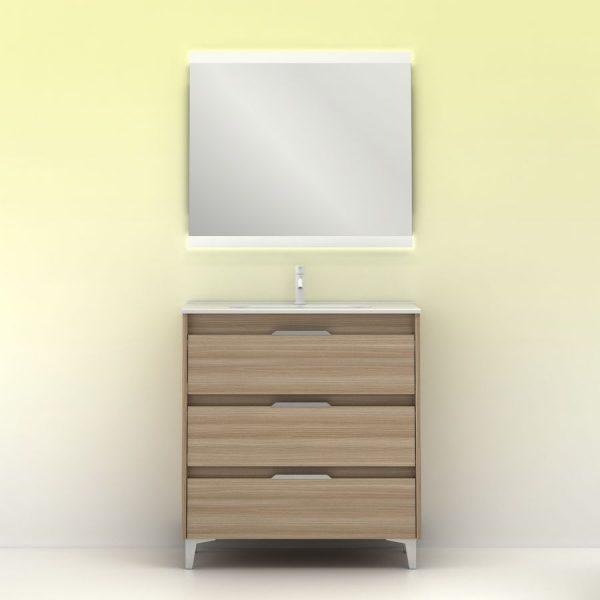 Conjunto de mueble Suki 80 cm - Amizuva