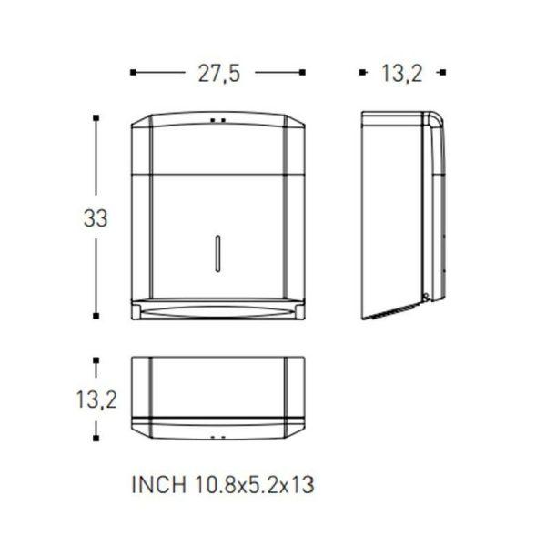 Dispensador de papel - Architect - Cosmic
