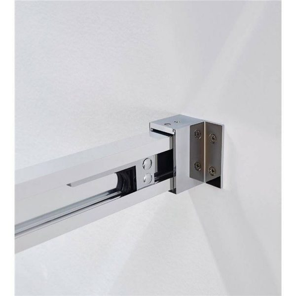 Mampara de ducha frontal 2 fijos + 2 correderas transparentes - Basic - GME