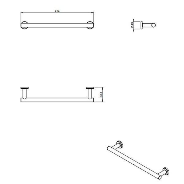 Toallero barra - Architect - Cosmic