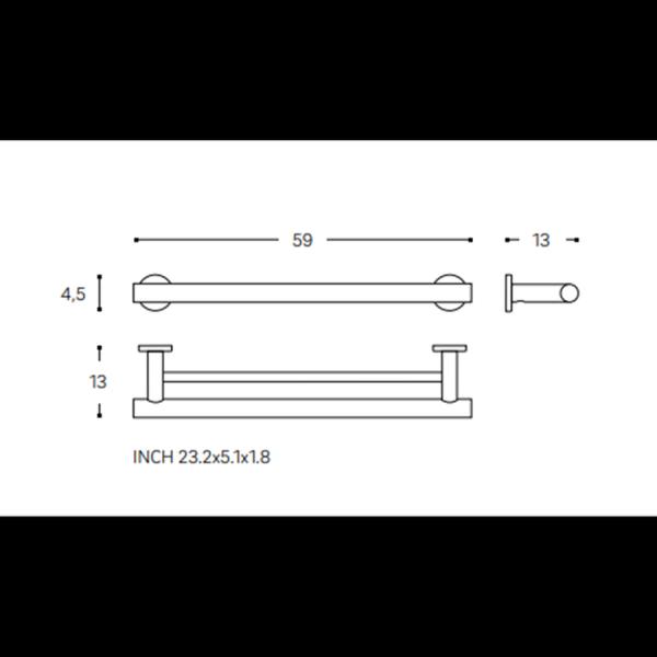 Toallero barra doble - Architect - Cosmic