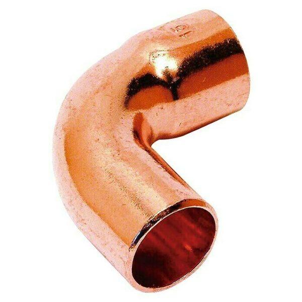 Curva de cobre 15 mm diámetro M-H