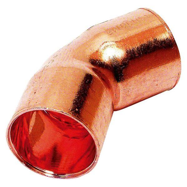 Curva de cobre 15 mm diámetro H-H