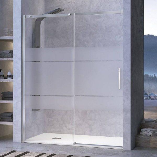 Frente de ducha fijo + puerta corredera Transparente - Luna - Kassandra