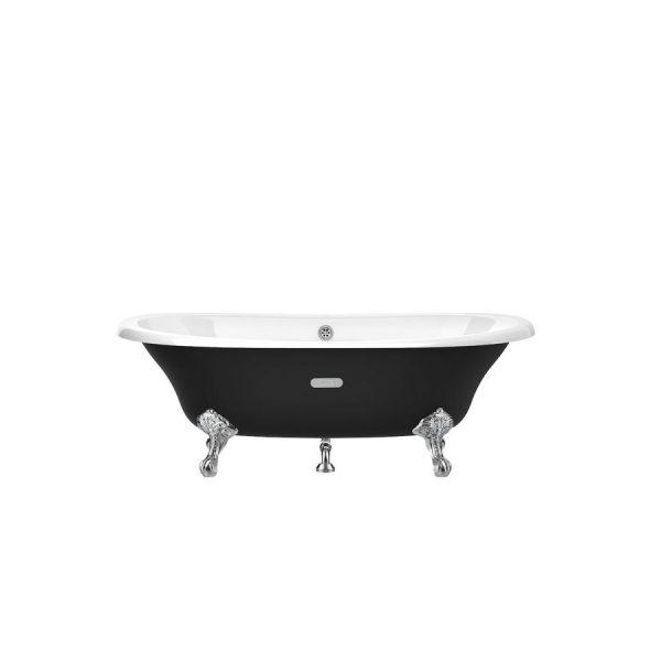 Bañera oval de fundición esmaltada con fondo antideslizante - Newcast - Roca