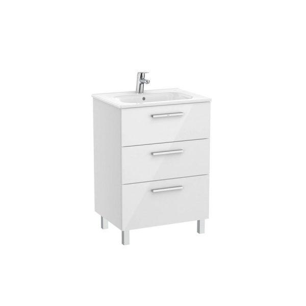 Unik Family mueble base con tres cajones y lavabo - Victoria - Roca
