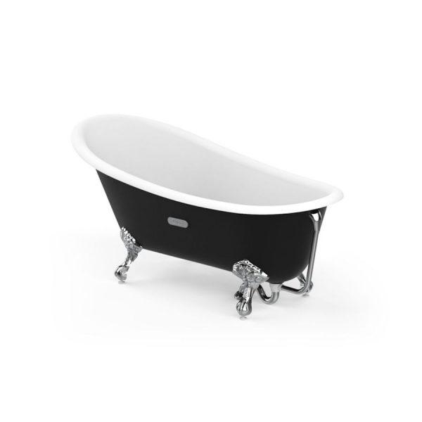 Bañera oval de fundición esmaltada con fondo antideslizante - Carmen - Roca