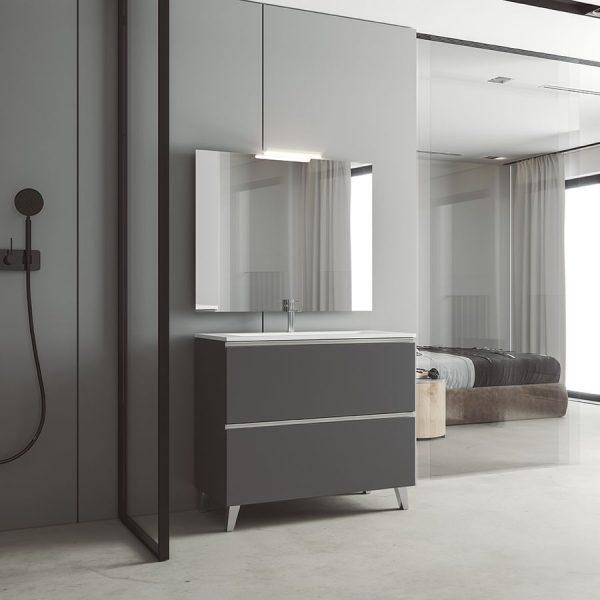 Conjunto mueble de baño a suelo + lavabo - Granada - Visobath