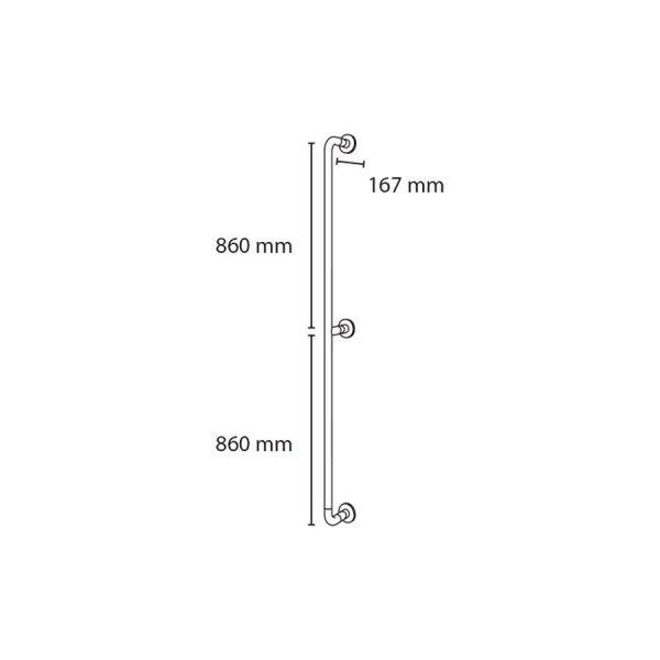 Barra de sujeción vertical - Prestobar 180 - PrestoEquip
