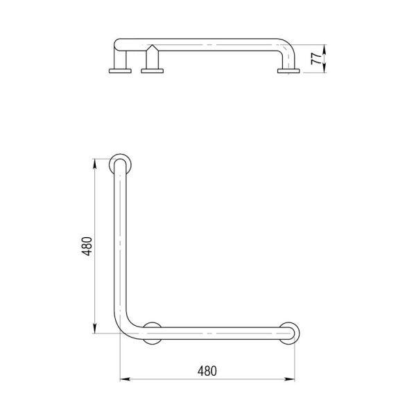 Barra de ángulo para ducha - LuxCover mármol - PrestoEquip