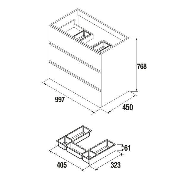 Mueble a suelo - Fussion Line - Salgar