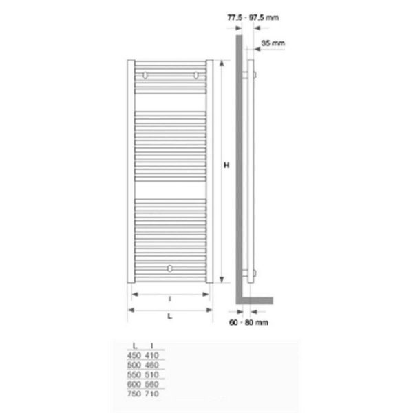 Radiador toallero blanco - Mithos Gamma - Stillö