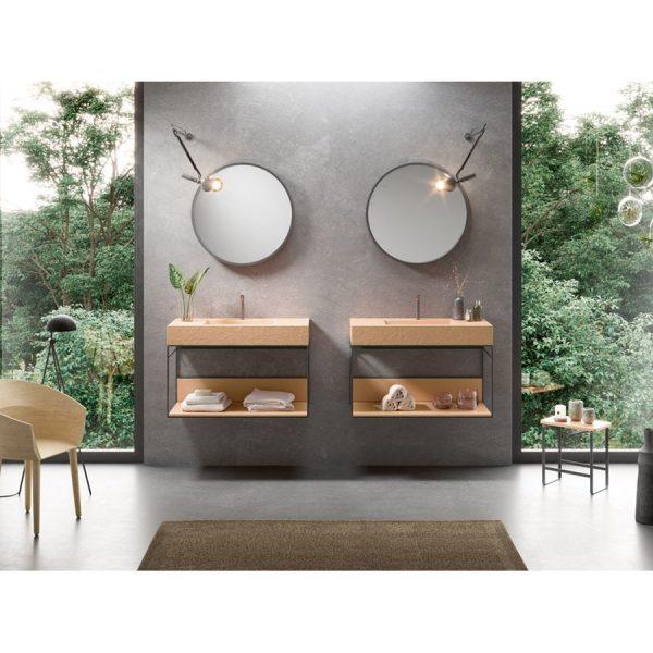 Mueble suspendido + lavabo - Akron - Acquabella