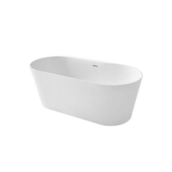 Bañera de SURFEX® oval con desagüe click-clack y sifón - Alena - Roca